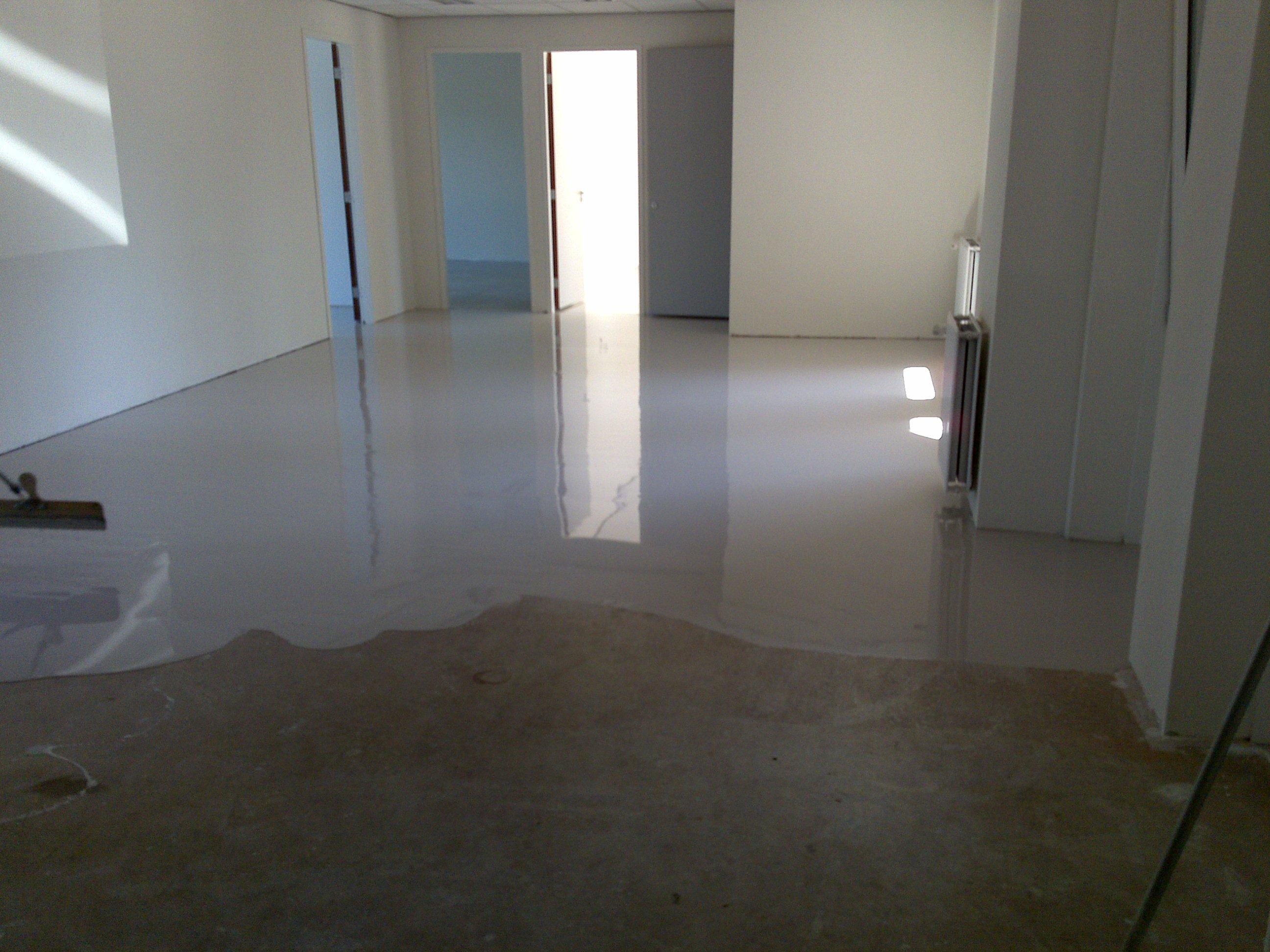 Marmoleum Vloer Verven : Hs vloeren projectstoffering werkwijze